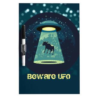 Beware UFO Dry Erase Board