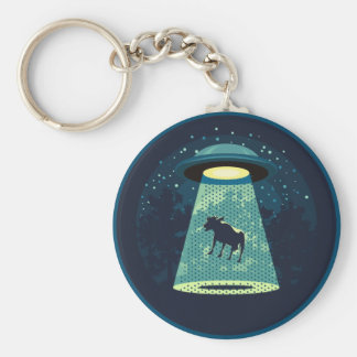 Beware UFO Key Ring