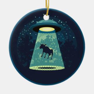 Beware UFO Round Ceramic Decoration