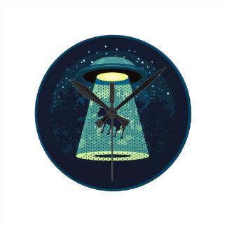 Beware UFO Round Clock
