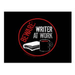 Beware: Writer at Work Postcards