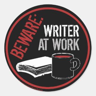 Beware: Writer at Work Stickers