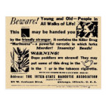 Beware! Young and Old in All Walks of Life! Post Cards