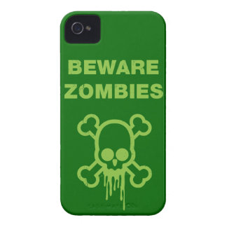 Beware Zombies On My Iphone Case-Mate iPhone 4 Cases