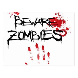 Beware Zombies Postcard