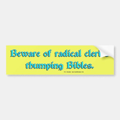 BewareRadicalClerics2 Bumper Stickers