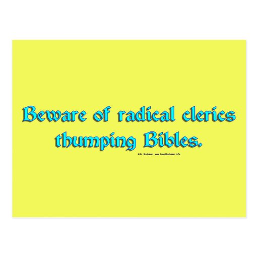 BewareRadicalClerics2 Postcards