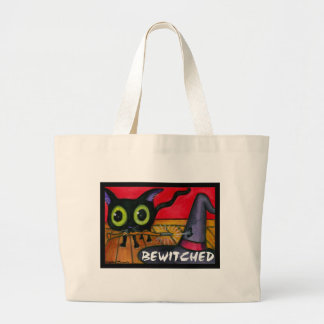 Bewitched Black Kitten Cat Tote Bag