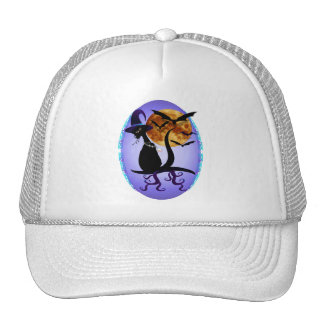 Bewitching Black Kitty Oval Cap