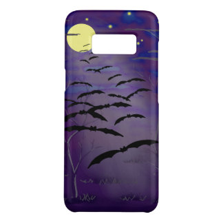 Bewitching Hour with Full Yellow Moon and Bats Case-Mate Samsung Galaxy S8 Case