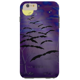 Bewitching Hour with Full Yellow Moon and Bats Tough iPhone 6 Plus Case