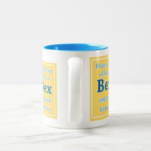 BEX and a good lie down mug