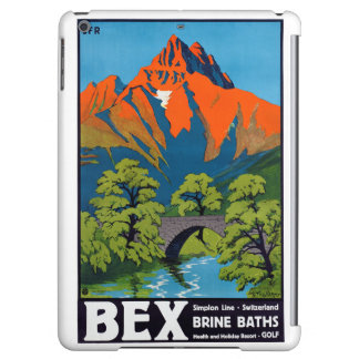 Bex Switzerland Vintage Travel Poster Restored