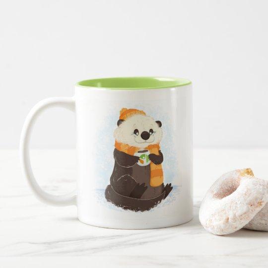 Beyond Celiac Holiday Otter Mug