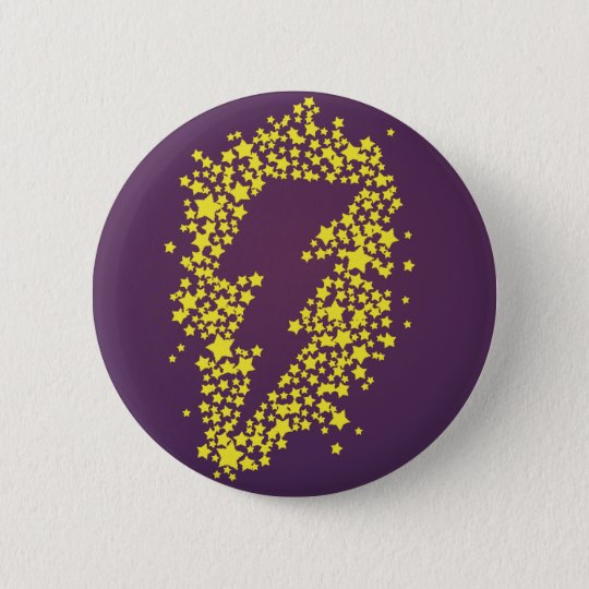 Beyond the stars (Lightning) (Coloured) 6 Cm Round Badge