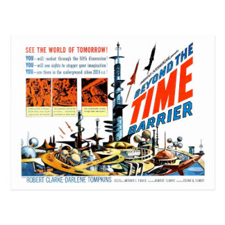 Beyond the Time Barrier Post Cards
