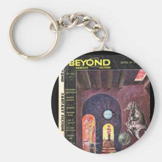 Beyond v01 n01 (1953-07.Galaxy)_Pulp Art Basic Round Button Key Ring