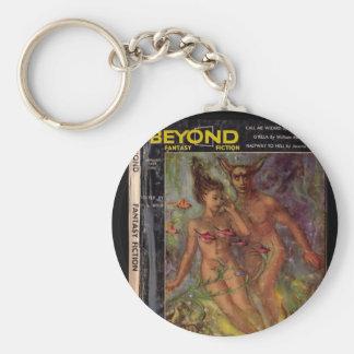Beyond v01 n04 (1954-01.Galaxy)_Pulp Art Basic Round Button Key Ring