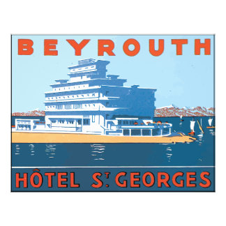 Beyrouth Hotel St. Georges, Vintage Flyers
