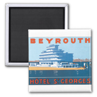 Beyrouth St. Georges Vintage Travel Poster Magnet