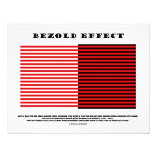 Bezold Effect (Optical Illusion) 21.5 Cm X 28 Cm Flyer