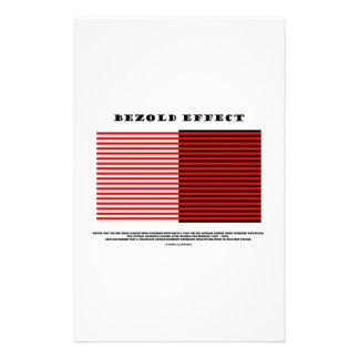 Bezold Effect Optical Illusion Stationery Paper