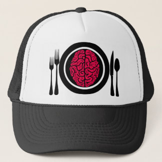 BF00015(BRAINS FOR DINNER BLACK)_PRINT.png Trucker Hat