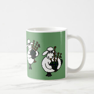 BF- Awesome Sheep Playing Bagpipes Coffee Mug