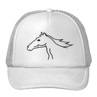 BF- Horse Silhouette Drawing Hat