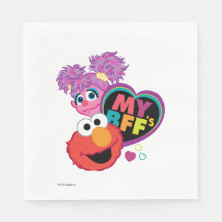 BFF Abby and Elmo Disposable Serviettes