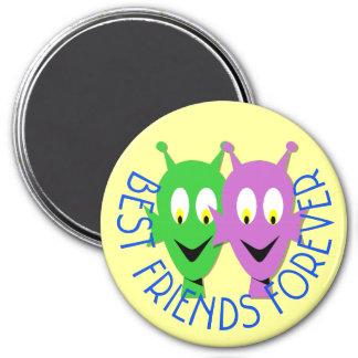 BFF aliens 7.5 Cm Round Magnet