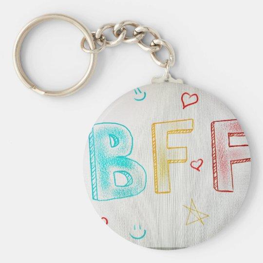 BFF BASIC ROUND BUTTON KEY RING