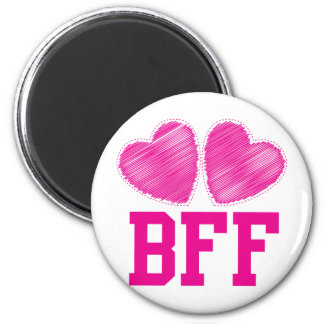 BFF Best friends forever !!! awesome! 6 Cm Round Magnet