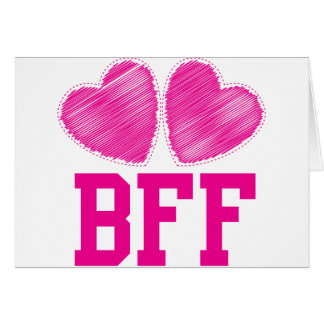 BFF Best friends forever !!! awesome! Greeting Card