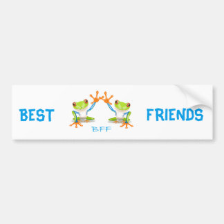 BFF Best Friends Forever Frogs Bumper Stickers