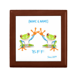 BFF Best Friends Forever Frogs Keepsake Boxes