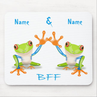 BFF Best Friends Forever Frogs Mouse Pad