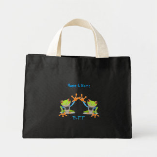 BFF Best Friends Forever Frogs Tote Bag