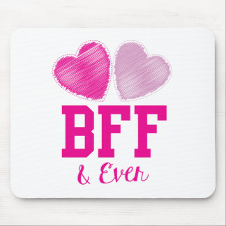 BFF Best Friends Forever Mouse Pad