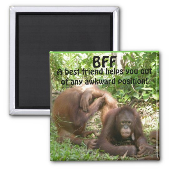 BFF Best Friends Forever Square Magnet