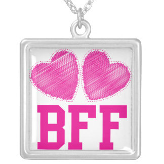 BFF Best friends forever Square Pendant Necklace