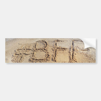 #BFF Best Friends Forever, Word on beach Bumper Sticker