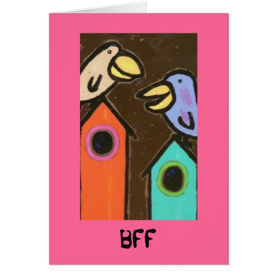 BFF bird card