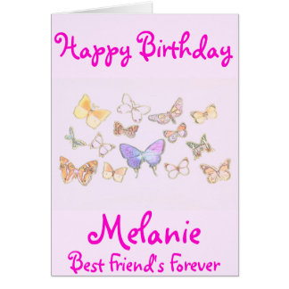 BFF Butterfly Birthday Card
