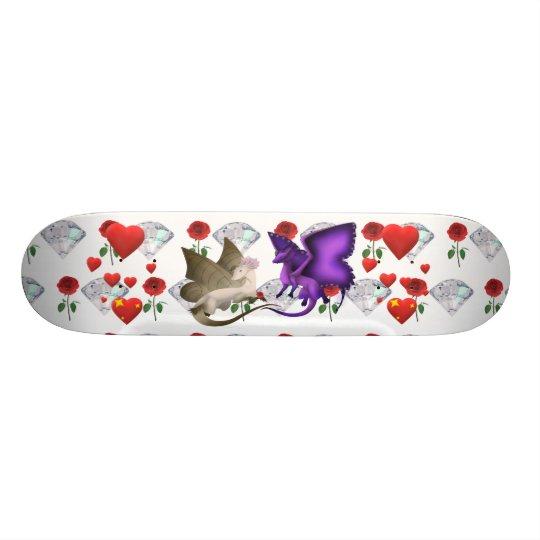 BFF Butterfly Dragon Heart Rose Diamond Skateboard
