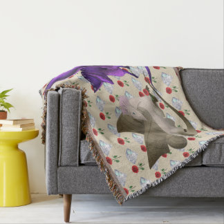 BFF Butterfly Dragon Throw Blanket