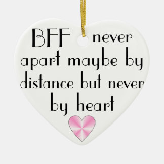 BFF by heart best friends forever Christmas Ornament