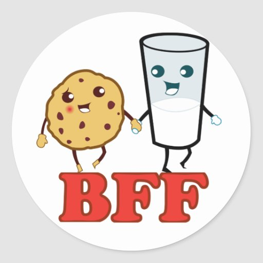 BFF, Cookie and Milk Stickers