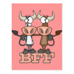 BFF cow best friends forever buddies Postcard
