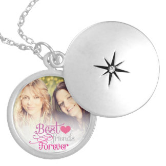 BFF - Fashion Best Friends Forever with Photo Silver Plated Necklace